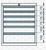99551636 Szafka typ N, 6 szuflad (wymiary: 625x520x550 mm)