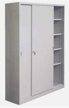 99551712 Szafa biurowa 1,0mm, 2 drzwi, 4 półki (wymiary: 1990x1400x435 mm)
