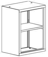 99551727 Nadstawka do regału zamkniętego, 1 półka (wymiary: 810x1200x435 mm)