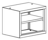 99551728 Nadstawka do regału zamkniętego, 1 półka (wymiary: 465x600x435 mm)
