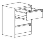 99551758 Szafka kartotekowa 1,0mm, 3 szuflady (wymiary: 1000x775x630 mm)