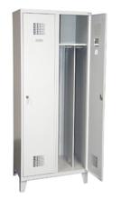 99551928 Szafka ubraniowa 0,5mm na nóżkach, 2 drzwi, zamek cylindryczny zamykany w 1 punkcie (wymiary: 1940x600x500 mm)