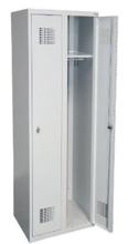 99551956 Szafka ubraniowa 0,8mm, 2 drzwi, zamek cylindryczny zamykany w 3 punktach (wymiary: 1800x600x500 mm)