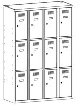 99552020 Szafka ze schowkami 0,5mm, 12 drzwi (wymiary: 1800x1200x500 mm)