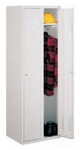 99552123 Szafka ubraniowa 0,6mm, zamek ryglujący drzwi w 3 punktach, 2 drzwi (wymiary: 1800x600x490 mm)