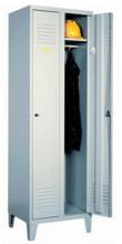 99552125 Szafka ubraniowa 0,6mm na nóżkach, zamek ryglujący drzwi w 3 punktach, 2 drzwi (wymiary: 1940x600x490 mm)