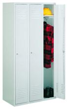 99552144 Szafka ubraniowa 0,6mm, zamek ryglujący drzwi w 3 punktach, 3 drzwi (wymiary: 1800x1200x490 mm)