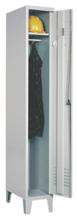 99552167 Szafka ubraniowa 0,8mm na nóżkach, zamek ryglujący drzwi w 3 punktach, 1 drzwi (wymiary: 1940x400x490 mm)