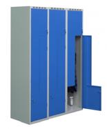 99552222 Szafka ubraniowa 0,6-0,8mm, 6 drzwi w kształcie L (wymiary: 1800x1200x490 mm)