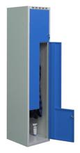 99552223 Szafka ubraniowa 0,8-1,0mm, 2 drzwi w kształcie L (wymiary: 1800x400x490 mm)