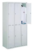 99552285 Szafka ze schowkami 0,8-1,0mm, 6 drzwi (wymiary: 1800x1200x490 mm)