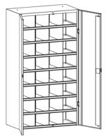 99552515 Szafa warsztatowa, 32 skrytki, 2 drzwi (wymiary: 1800x1000x500 mm)