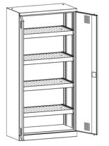 99552529 Szafa warsztatowa, 4 półki, 2 drzwi (wymiary: 1950x950x500 mm)