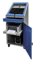 99552543 Szafka pod komputer przemysłowy, z listwą zasilającą i wentylatorem (wymiary: 1545x640x635 mm)