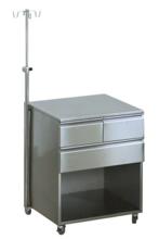 99552576 Szafka anestezjologiczna na kółkach z blachy kwasoodpornej (wymiary: 840x770x600 mm)