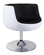99850990 Fotel obrotowy Cognac (kolor: biały/czarny)