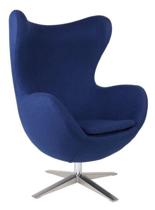 99851010 Fotel Jajo inspirowany Egg szeroki tkanina (kolor: niebieski)