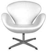 99851030 Fotel Cup inspirowany projektem Swan kaszmir (kolor: biały)