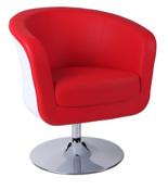 99851050 Fotel obrotowy Magnum (kolor: biały/czerwony)