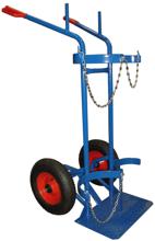 DOSTAWA GRATIS! 13340549 Wózek dwukołowy spawalniczy do przewozu butli gazowych (nośność: 300 kg)