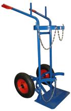 DOSTAWA GRATIS! 13340550 Wózek dwukołowy spawalniczy do przewozu butli gazowych (nośność: 400 kg)