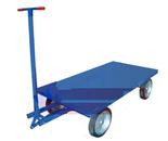 DOSTAWA GRATIS! 13340564 Wózek platformowy ręczny KB (koła: pełna guma 400 mm, nośność: 1500 kg, wymiary: 1000x2000 mm)