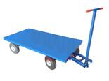 DOSTAWA GRATIS! 13340566 Wózek platformowy ręczny KB (koła: pneumatyczne 300 mm, nośność: 1500 kg, wymiary: 1000x2000 mm)