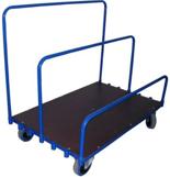 DOSTAWA GRATIS! 13340568 Wózek platformowy ręczny do przewozu płyt, zwojów, wiązek (nośność: 600 kg)
