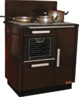 DOSTAWA GRATIS! 25915623 Kuchnia węglowa 9,2kW KATARZYNA z wężownicą (kolor: brązowy)