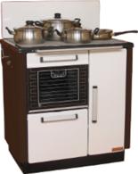 DOSTAWA GRATIS! 25942762 Kuchnia węglowa 9,2kW KATARZYNA z wężownicą (kolor: biały i brązowy)