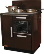 DOSTAWA GRATIS! 25944451 Kuchnia węglowa 9,2kW KATARZYNA z wężownicą, wylot spalin z tyłu z lewej strony (kolor: brązowy)