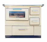 DOSTAWA GRATIS! 50066966 Kuchnia węglowa z piekarnikiem 9,5-16kW na drewno i węgiel (kolor: kremowy)
