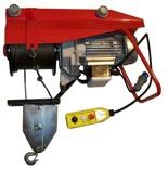 DOSTAWA GRATIS! 55564737 Wciągarka linowa budowlana elektryczna + zdalne sterowanie z niskim napięciem (udźwig: 800 kg, długość liny: 25m)