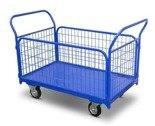 DOSTAWA GRATIS! 62666878 Wózek platformowy osiatkowany (udźwig: 400 kg, wymiary platformy: 950x670 mm)
