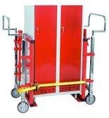 DOSTAWA GRATIS! 99724839 Wózek hydrauliczny do transportu maszyn, mebli GermanTech (udźwig: 1800 kg)