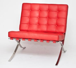 DOSTAWA GRATIS! 99850953 Fotel BA1 Premium Inspirowany Barcelona (kolor: czerwony)