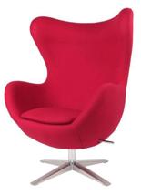 DOSTAWA GRATIS! 99851004 Fotel Jajo inspirowany Egg szeroki wełna (kolor: czerwony)