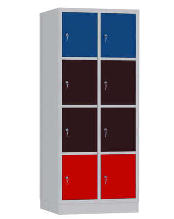 00141922 Szafa skrytkowa, 2 segmenty, 8 skrytek (wymiary: 1950x810x480 mm)