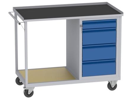 00142074 Wózek platformowy, 4 szuflady (wymiary: 890x1150x590 mm)