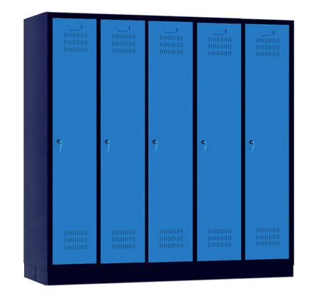 00150432 Szafa szkolna, 5 segmentów, 5 drzwi (wymiary: 1500x1480x480 mm)