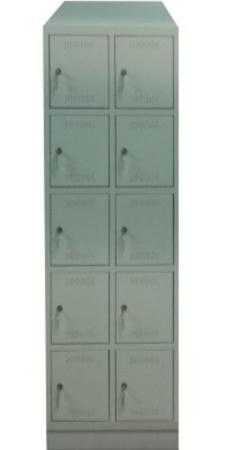 00150534 Szafa skrytkowa z daszkiem, 2 segmenty, 10 skrytek (wymiary: 2135x610x480 mm)