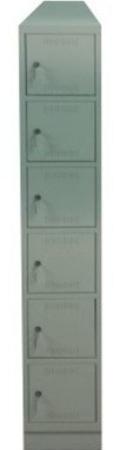 00150550 Szafa skrytkowa z daszkiem, 1 segment, 6 skrytek (wymiary: 2135x370x480 mm)