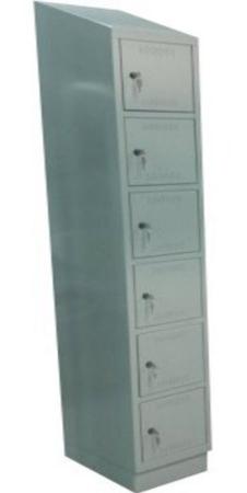 00150565 Szafa skrytkowa z daszkiem, 1 segment, 6 skrytek (wymiary: 2135x420x480 mm)