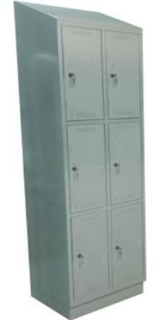 00150567 Szafa skrytkowa z daszkiem, 2 segmenty, 6 skrytek (wymiary: 2135x810x480 mm)