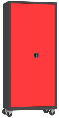 00150599 Szafa na akta na kółkach, 2 drzwi (wymiary: 1950 + koła x900x500 mm)