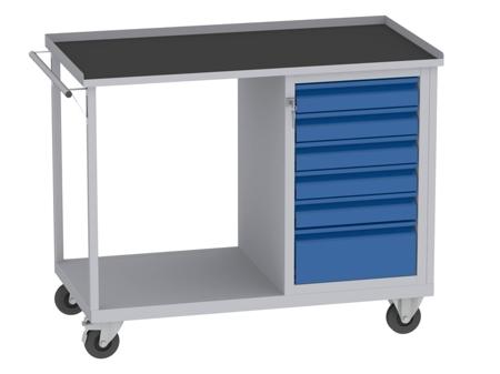 00150669 Wózek platformowy, 6 szuflad (wymiary: 890x1150x590 mm)