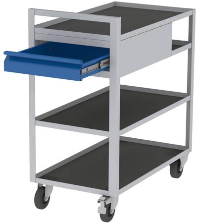 00150672 Wózek serwisowy, 2 półki, 1 szuflada (wymiary: 925x825x455 mm)