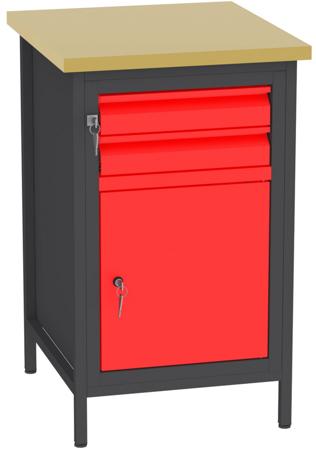 00150680 Stanowisko pod wiertarkę, 1 drzwi, 2 szuflady (wymiary: 880x550x600 mm)