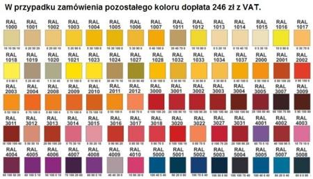 00150694 Szafa żaluzjowa, 2 półki (wymiary: 1250x600x500 mm)