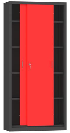 00150802 Szafa przesuwna, 4 półki (wymiary: 1950x900x500 mm)